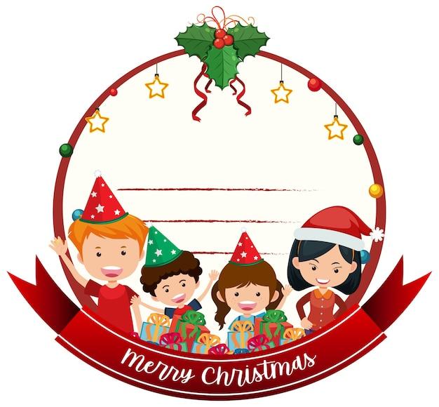 Pusty szablon kartki świąteczne wesołych świąt