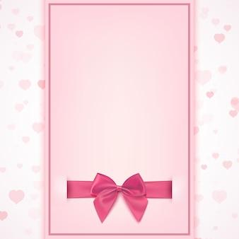 Pusty szablon karty z pozdrowieniami na uroczystość baby girl shower