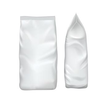Pusty szablon opakowania na białym tle