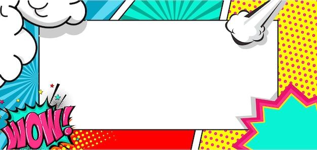 Pusty szablon tła ramki komiksowej