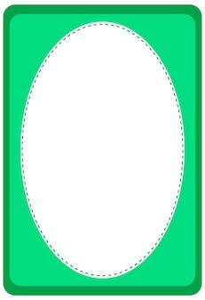 Pusty szablon transparentu w kształcie owalu