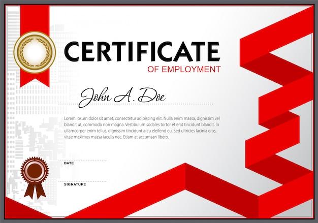 Pusty szablon zaświadczenia o zatrudnieniu