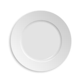 Pusty talerz. na białym tle
