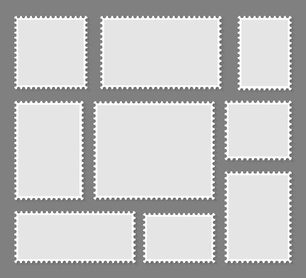 Pusty zestaw kolekcji znaczków pocztowych.