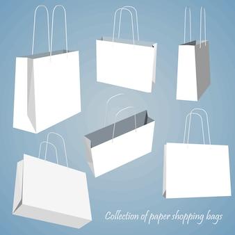 Pusty zestaw toreb na zakupy.
