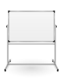 Pusty znacznik magnetyczny tablicy do prezentacji szkoleniowych i edukacyjnych na białym tle
