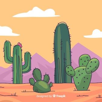 Pustynny kaktusowy tło