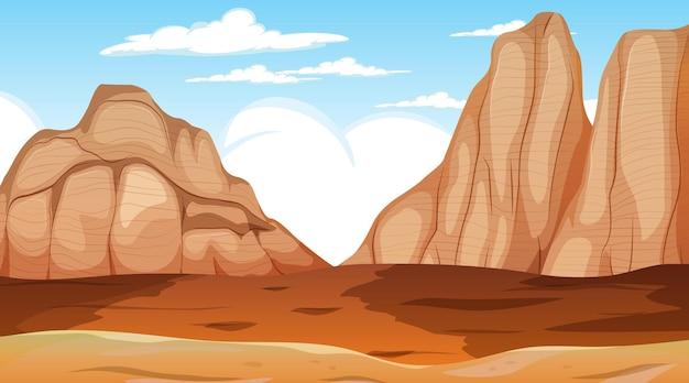 Pustynny krajobraz leśny w scenie dziennej