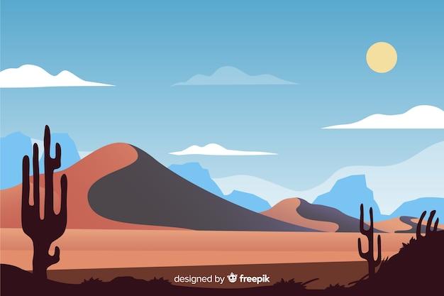 Pustynny krajobraz naturalnego tła