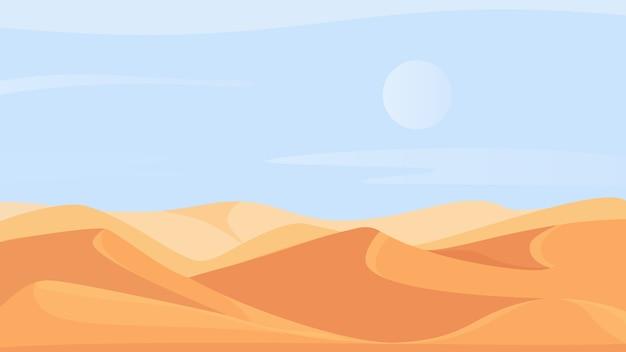 Pustynny krajobraz przyrody w afryce
