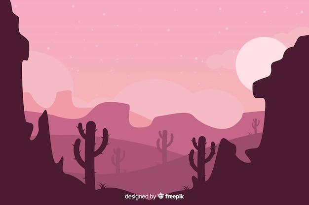 Pustynny krajobraz różowy tło