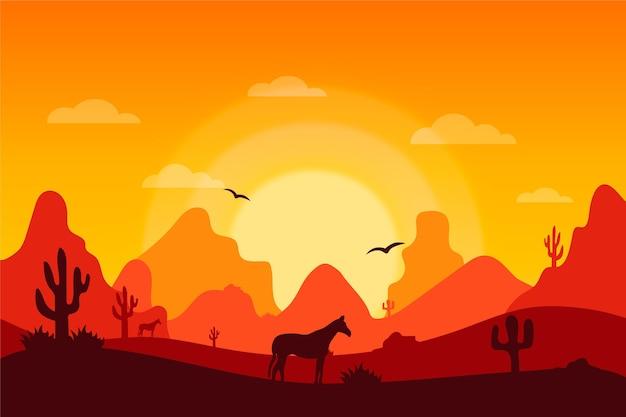 Pustynny krajobraz - tło do wideokonferencji