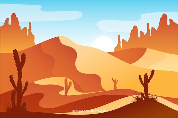 Pustynny krajobraz w czasie dnia