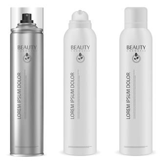Puszka aerozolu. aluminiowa butelka z rozpylaczem