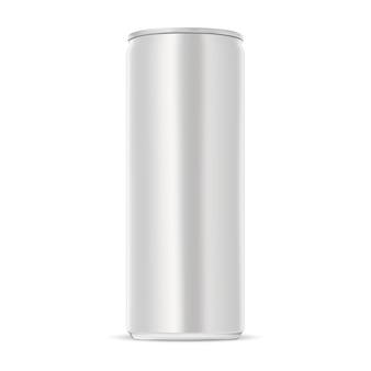 Puszka aluminiowa. smukła puszka napoju energetycznego.