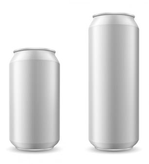 Puszka piwa ilustracji wektorowych