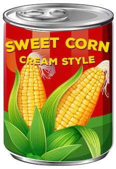 Puszka stylu słodkiej kukurydzy