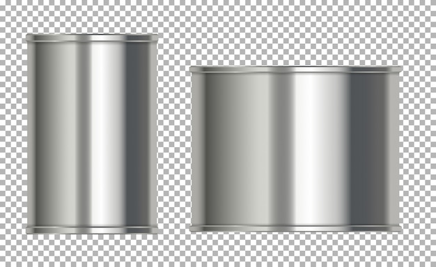 Puszki aluminiowe bez etykiety