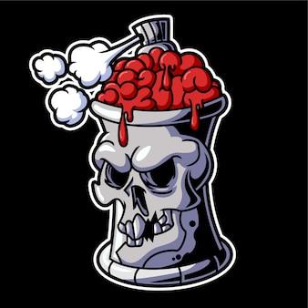 Puszki czaszki graffiti