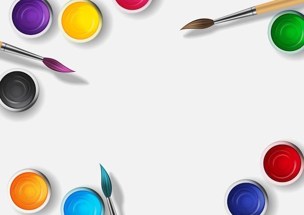 Puszki z gwaszem, zestaw do kolekcji farb akrylowych