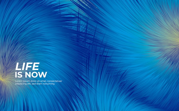 Puszyste futro niebieskie tło