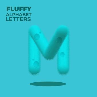 Puszysty gradient angielski alfabet litera m