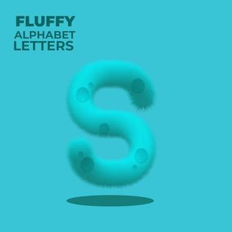 Puszysty gradient litera alfabetu angielskiego s