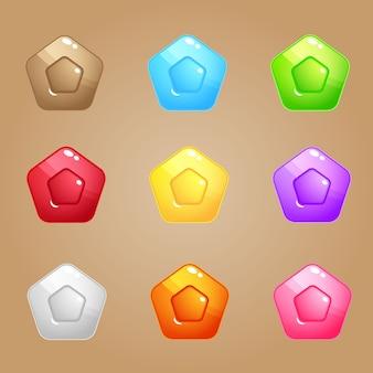 Puzzle bloku cukierków pentagonu