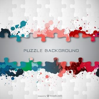 Puzzle rozpryski farby darmo wektor