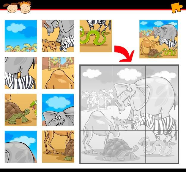 Puzzle safari kreskówka zwierząt