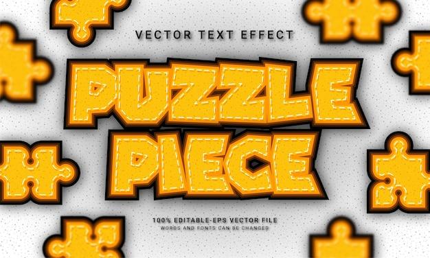 Puzzle tematyczne w stylu 3d z efektem tekstu!