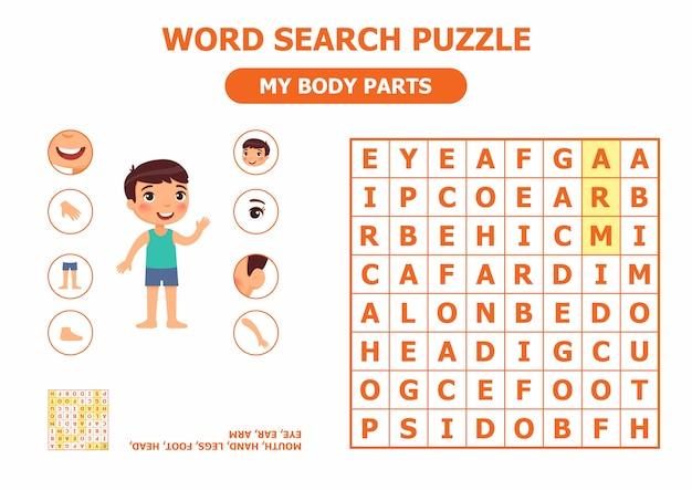 Puzzle wyszukiwania słowa