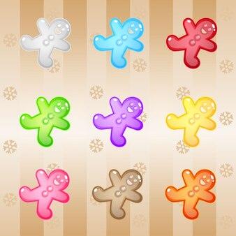 Puzzle z kawałkami słodyczy z piernika