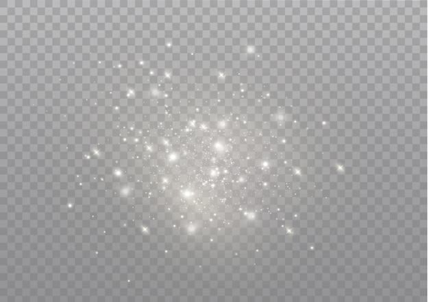 Pył iskry i złote gwiazdy świecą specjalnym światłem.