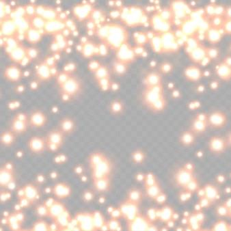 Pyłowe iskry i czerwone gwiazdy świecą specjalnymi jasnoczerwonymi błyskotkami