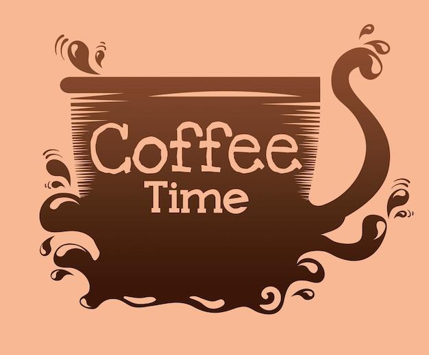 Pyszna filiżanka kawy