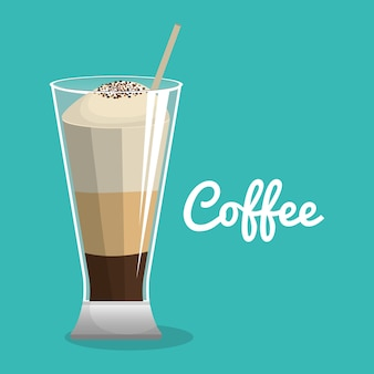 Pyszna kawa mrożona napoje