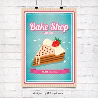 Pyszne ciasto plakat