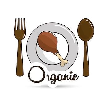 Pyszne danie z kurczaka udo ikona