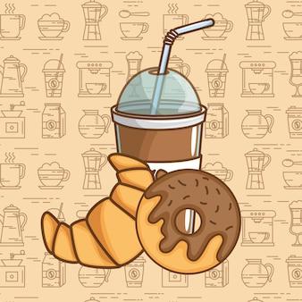 Pyszne elementy czasu kawy