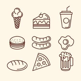 Pyszne ikony fast food