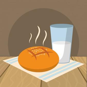 Pyszne jedzenie kreskówka śniadanie