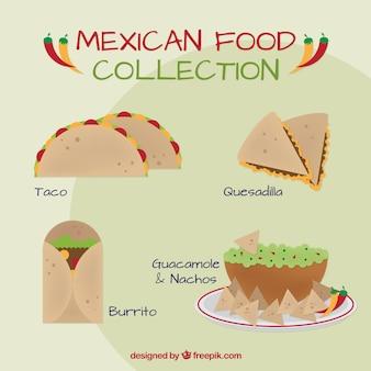 Pyszne jedzenie meksykańskie obiad