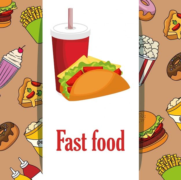 Pyszne menu fast food