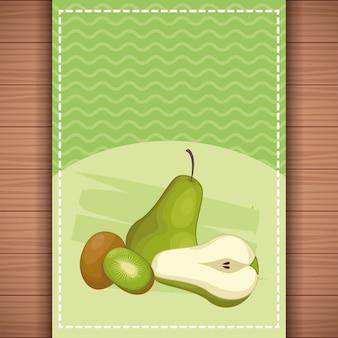 Pyszne owoce kreskówki