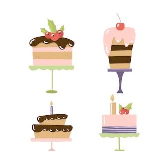 Pyszne słodkie ciasta.