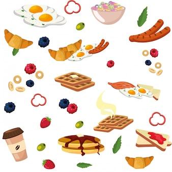 Pyszne smaczne menu śniadaniowe
