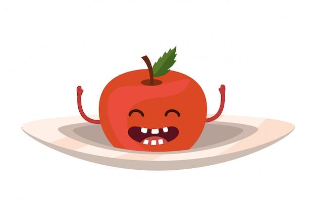 Pyszne smaczne owoce kreskówka