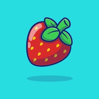 Pyszne świeże dojrzałe owoce truskawek wektor ilustracja projektu