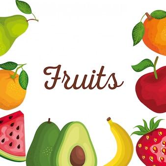 Pyszne świeże owoce ze zdrową witaminą